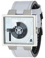 EOS New York tokidoki Unisex TDW163SSIL Chromo Vinile Record Player White Watch