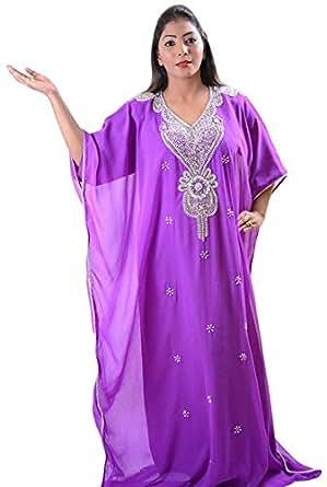 Click on Style Purple Party Jalabiya For Women