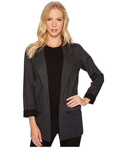 Denim And Tweed Jacket - Liverpool Jeans Company Women's Boyfriend Blazer in Heather Tweed Ponte Knit, Grey, L