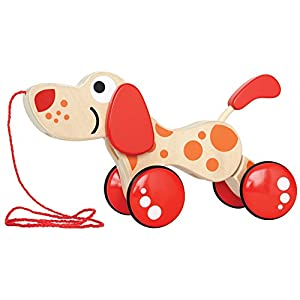 Award Winning Hape Walk-A-Long Puppy Wooden Pull Toy