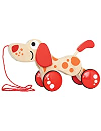 Hape Walk-A-Long Puppy Wooden Pull Toy BOBEBE Online Baby Store From New York to Miami and Los Angeles