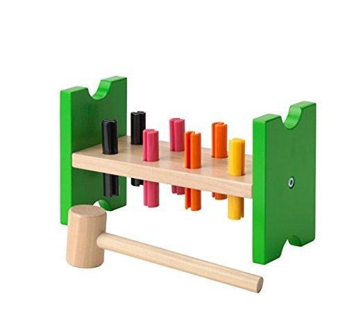 (IKEA MULA 2016 new Toy hammering block, multicolour )