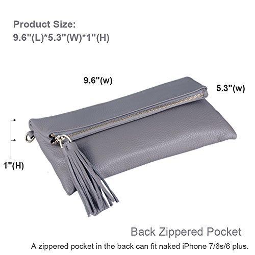 Purse with Wristlet Card Strap Crossbody Bag Wallet Wrist Slots Shoulder Leather Women Strap Clutch 6 Crossbody Befen XqESzz