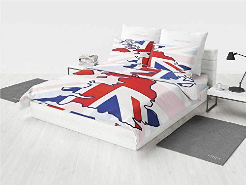 Union Jack Nursery Bedding Sets for Boys Faded United Kingdo