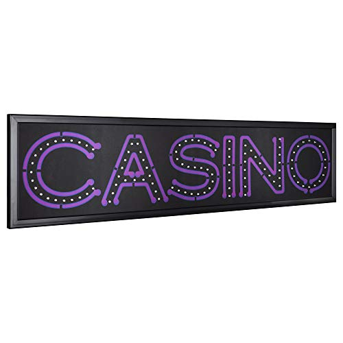 (American Art Decor Casino LED Light Up Sign Wall Decor for Man Cave Bar Garage Game Room )