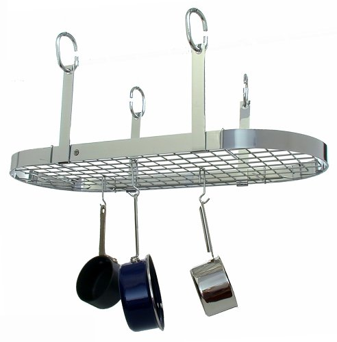 - Enclume PR14wg CH Oval Ceiling Rack with Grid, 41.5