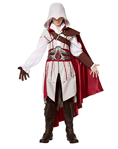 Spirit Halloween Teen Ezio Costume - Assassin's Creed, L 12-14, White, L 12-14, White ()