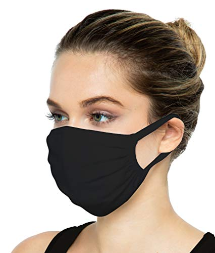 🥇 SAMBUYA Cloth Reusable Washable Face Mask with Filter Pocket   Anti-Microbial Comfortable Breathable 3-Layer 100% USA Cotton Fabric   Adult Unisex Women Men