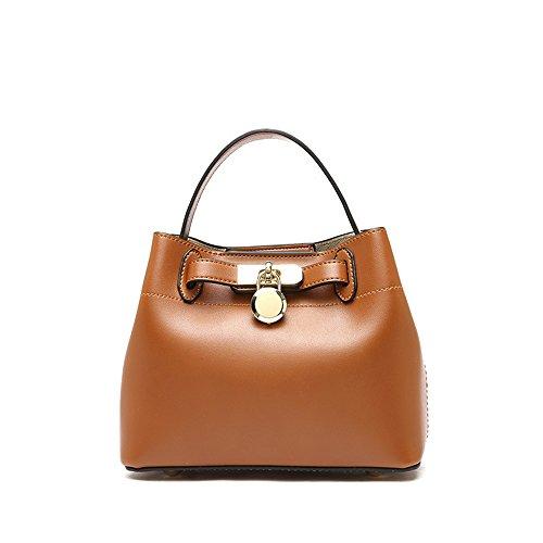 Fangyou1314 Wide Leisure Belt Bag Pu Messenger Bag Simple Shoulder (color: Brown) Brown