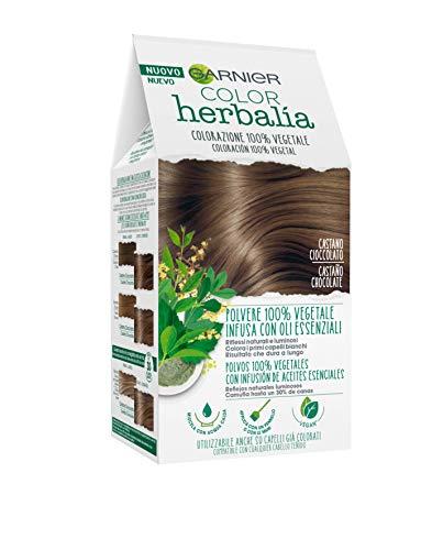 🥇 Garnier Herbalia Coloración 100% Vegetal – Castaño Chocolate