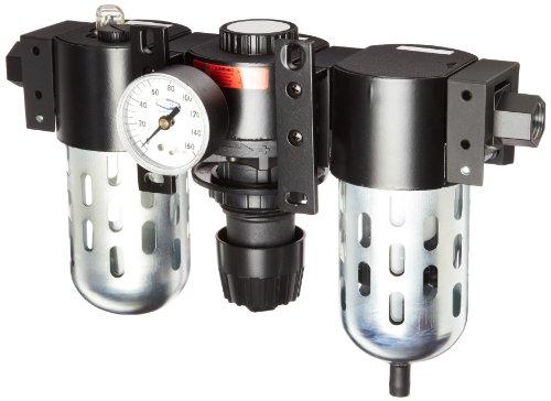 Dixon C26-04M Manual Drain Wilkerson Standard Combination Unit with Transparent Bowl and Guard, 1/2'' Size, 128 SCFM Flow, 150 psig Pressure by Dixon Valve & Coupling
