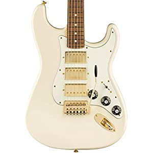 Limited Mahogany Blacktop Stratocaster 3H PF Olympic White