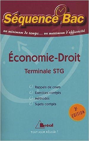 Livres gratuits Economie-droit Tle STG pdf ebook