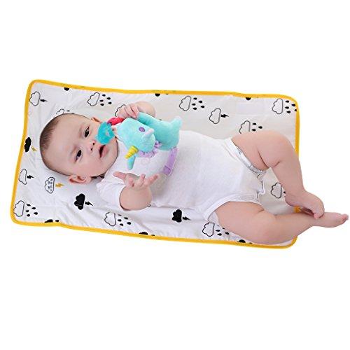 KAKIBLIN Newborn Baby Boy Girl Sleeping Positioner Anti-Flat Head and Neck Support Pillow Mat Yellow Flaky Clouds