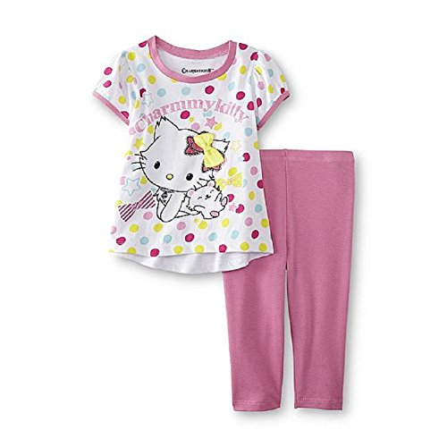 SANRIO Charmmy Kitty Infant & Toddler Girl's Graphic T-Shirt & Leggings 2t (Kitty Sanrio Charmmy)
