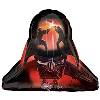 "Star Wars Darth Vader Helmut Supershape Boy Birthday Party 29"" Balloon"