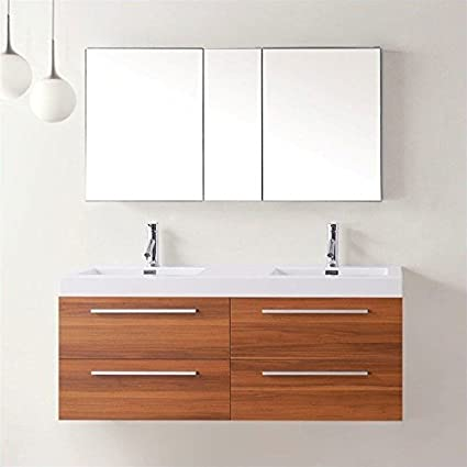 54 bathroom vanity double sink. Virtu USA JD 50754 PL 54 Inch Finley Double Sink Bathroom Vanity