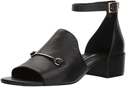 Nine West Women's Xquilza Leather Sandal, Black Leather, 7.5 Medium US from Nine West