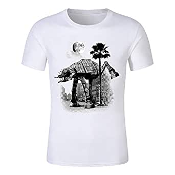 Men t shirt fashion Cool Star Wars Empire Sketch robot White hip pop funny Short sleeve t-shirt summer tee shirt