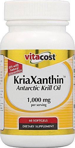 Vitacost KriaXanthin krill antarctique huile avec astaxanthine naturel - 1000 mg par portion - 60 gélules