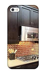 High-quality Durability Case For Iphone 5/5s(yellow And Red Backsplash In Kitchen)
