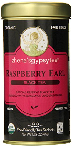 Zhena's Gypsy Tea, Raspberry Earl, 1.55 Oz, 22 Count Tea - Tin Gypsy Zhena