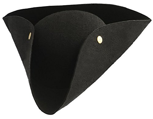 Kangaroo Deluxe Tricorn Felt Pirate Hat Adult (Revolutionary War Hats)