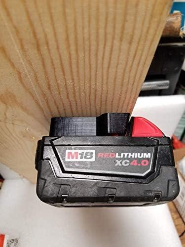 Battery Ready Dock//Mount Holder for Milwaukee 18V Battery Adapter Dock Holder Fit for M18 48-11-1850 18V No Battery