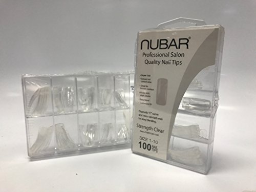 Nubar Professional Salon Quality Strength Clear Nail Tips (Tips Super Nail Curve)