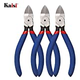 Kaisi KA05 Wire Cutters Pliers 5 Inch Precision Small Diagonal Flush Wire Cutters Side Cutter Pliers for Cuts Electronics, Wires, Jewelry, Screws, Zip Ties and More - 3 Pack