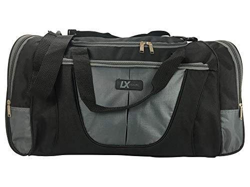 Bolsa Sacola De Viagem Luxcel Lx Travel G – Sa17044Lx-25 - Preto/cinza