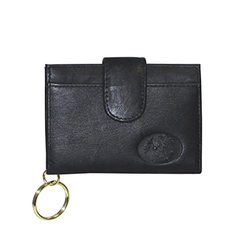 Buxton Heiress Pik-Me-Up Tab Card Case, black