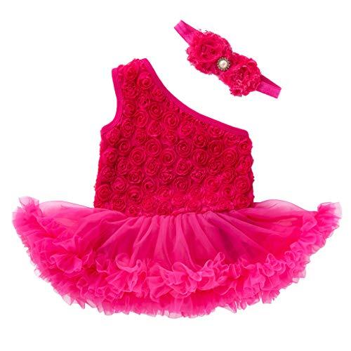 2 PCS Toddler Baby Girls Sleeveless Flower Dress +Headband Outfits Set Hot -