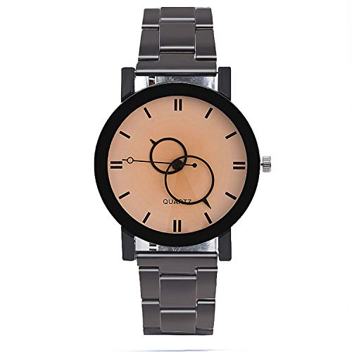 - Fashion Men Steel Strap Quartz Watch Clock Women Watches Casual Lovers Couple Wristwatches Gift,White Men