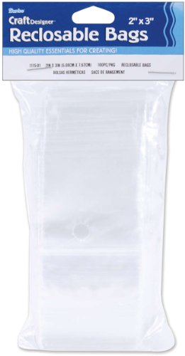 Reclosable Storage Bags 2 Inch X3 Inch -100/Pkg