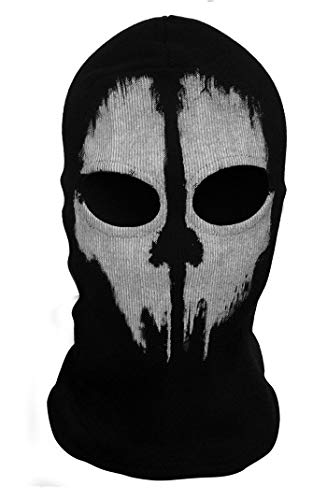 eyesonme Face Skull Mask Ghost Game Skateboard Hood Halloween Call of Duty 10 ()