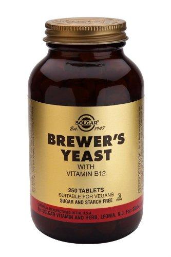 Solgar Levadura de cerveza con vitamina B12-250 tabletas
