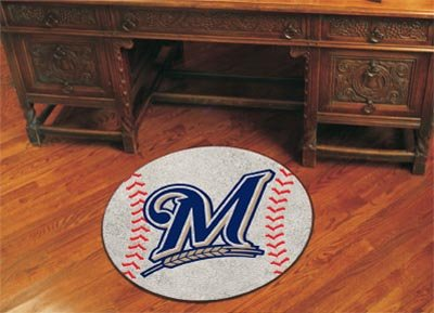 Milwaukee Brewers Rug (Fan Mats 6488 MLB - Milwaukee Brewers 29
