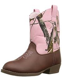 Natural Steps Girls' Elite Boot, Brown/Pink Camo, 3 M US Little Kid