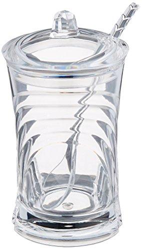 Prodyne Sugar Please Acrylic Sugar Jar with Spoon in Glacier