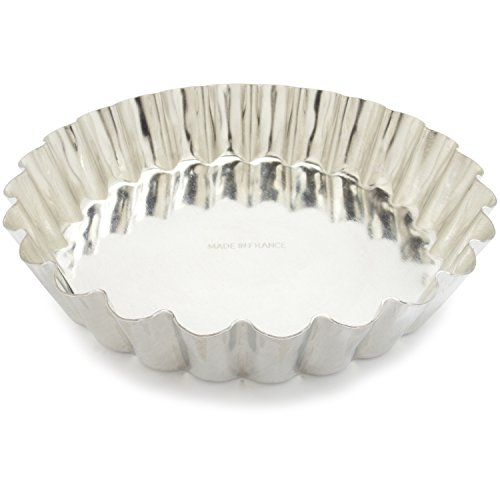 Tinned Steel Fluted Tartlet Mold - Gobel Tinned-Steel Fixed-Bottom Fluted Tartlette Mold 193572, 4.4
