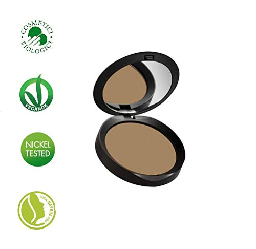 PuroBIO Certified Organic RESPLENDENT Intense and Long-Lasting Bronzer and Contouring Powder NO 1. Made with Apricot, Avocado Oils, Shea Butter, Vitamin E. ORGANIC. VEGAN. NICKEL TESTED. MADE IN ITALY