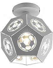 Lámpara de techo LED de color minimalista moderna, lámpara de techo de 20 cm para habitación de niños, diseño de dibujos animados, protección del medio ambiente, pantalla de cristal forjado
