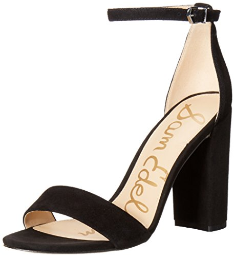 Sam Edelman Women's Yaro Dress Sandal, Black Suede, 5.5 M US ()