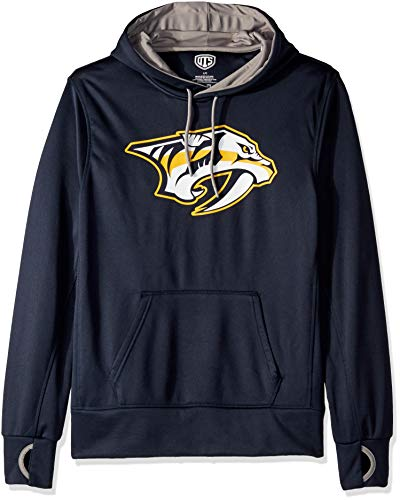 NHL Nashville Predators Male OTS hooded Pullover, Fall Navy, Large ()