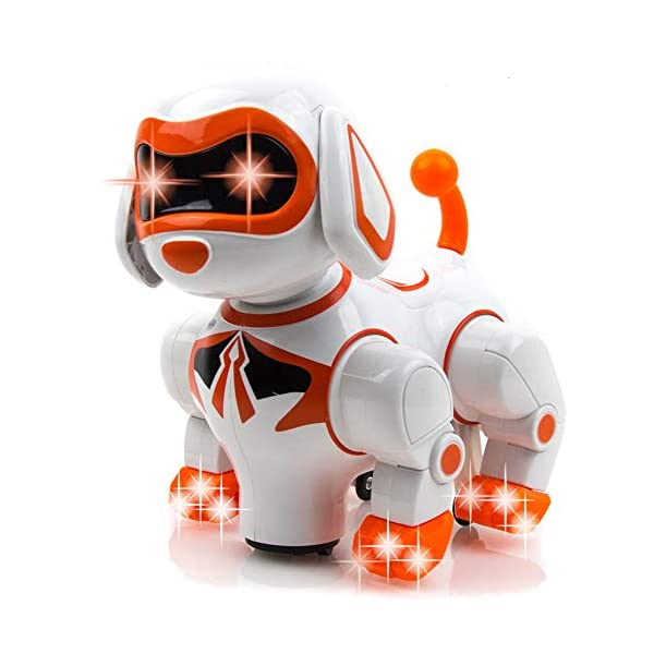 Toysery-Interactive-Robot-Dog-Kids-Toy-Childrens-Pet-Robot-Puppy-Toy-with-Flashing-Light-Sound-Walks-Runs-Barks-Bump-n-Go-Robotic-Dog-Toys-for-Girls-Boys