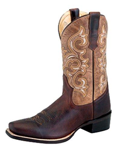 Vecchio Cowboy West Stivali Da Uomo Cowboy Tallone Foderato Cuciture 8.5 Ee Brown 5551