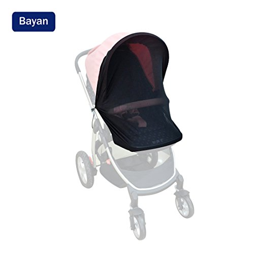 Bayan Stroller Sunshade Car Seat Sun Shade Bassinet Playpen Crib Stroller Net-Nice Visiblity And Air Permeability Design