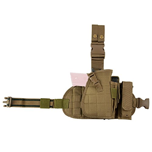 NcSTAR VISM Drop Leg Holster, Panel & Mag Pouch, Tan