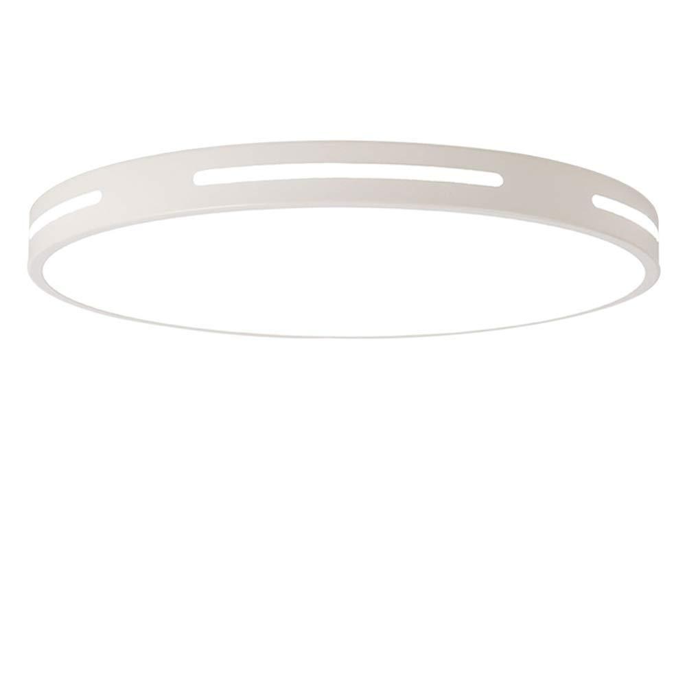 Eeayyygch Kristalldeckenleuchter LED Acryl Deckenleuchten, 5cm Ultradünne Runde Deckenleuchten Wohnzimmer Schlafzimmer Flurlichter Dimmbare Ganglichter (Farbe  Schwarz-Dreifarbig-60cm)